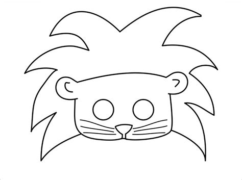 coloring page lion mask animal mask template animal templates free premium