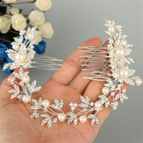 Vintage Bridesmaid Hair Accessories by Ivory White Pearl Comb Wedding Hair Comb Bridal Hair