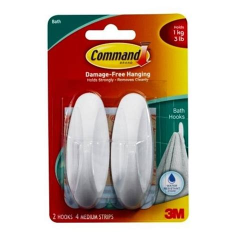 command strip bathroom 3m command water resistant strips clips hooks bathroom
