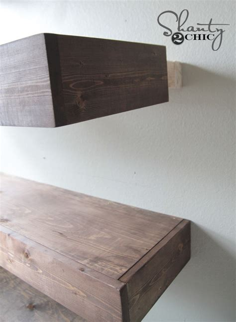 diy floating shelves plans  tutorial shanty  chic
