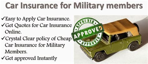 Cheap car insurance for military members,Find Here