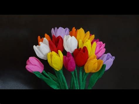 Make Paper Tulips - how to make beautiful paper tulip flowers diy s
