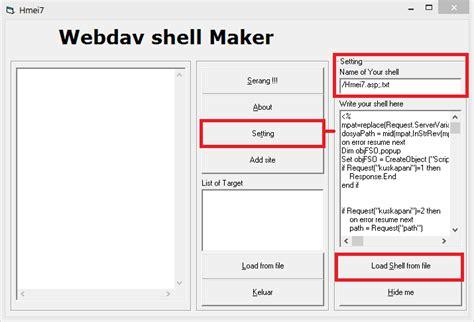 deface website dengan rootkit webdav materi sekolah online
