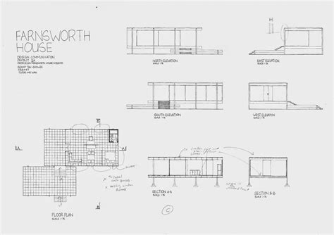 farnsworth house floor plan dimensions design communication project 02 bennyts e portfolio