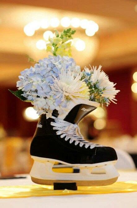 centerpiece for that hockey wedding you seem to be unintentionally planning for me d hockey