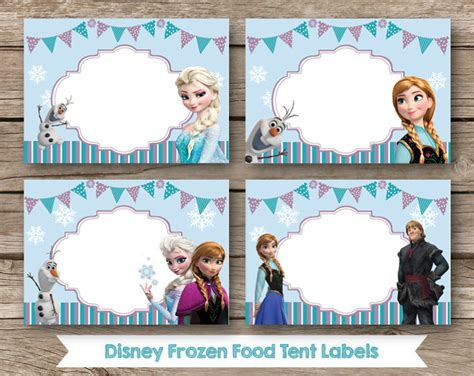 printable frozen table cards frozen food labels images