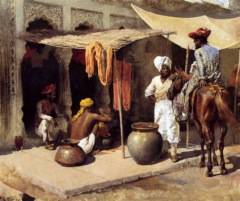 American Awning Outside An Indian Dye House C 1885 Edwin Lord Weeks