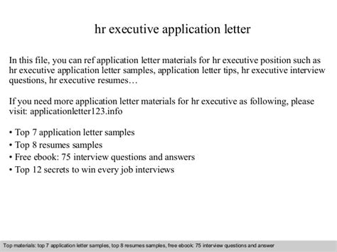 Application Letter Materi Hr Executive Application Letter