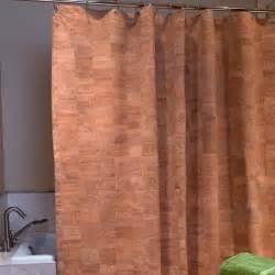 curtains cork cork shower curtain the green head