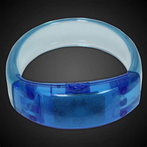 blue led bangle bracelet