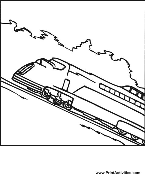 train coloring page high speed train