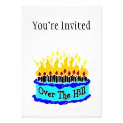 the hill flaming birthday cake 5 quot x 7 quot invitation card zazzle
