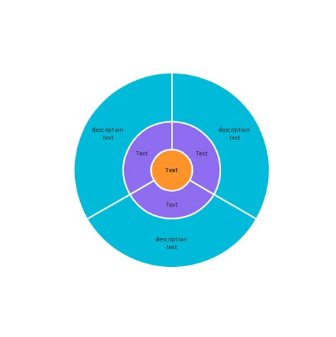 circle diagram target diagrams vector stencils library target