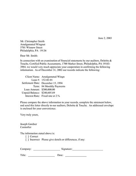 Bank Letter Audit Letter Format 187 Bank Confirmation Letter Format Cover Letter And Resume Sles