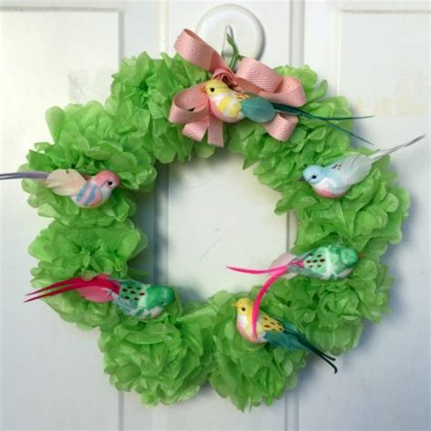 How To Make A Tissue Paper Wreath - make a tissue pom pom wreath 187 dollar store crafts