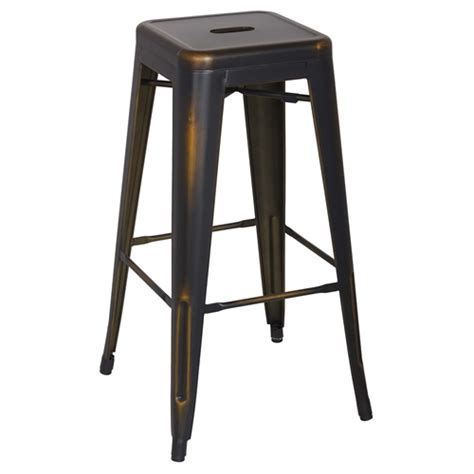 Galvanised Bar Stools by Vintage Galvanized Steel Bar Stool Antique Copper Backless Set Of 4 Dcg Stores