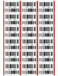 Barcode Label Template by Splusrutracker