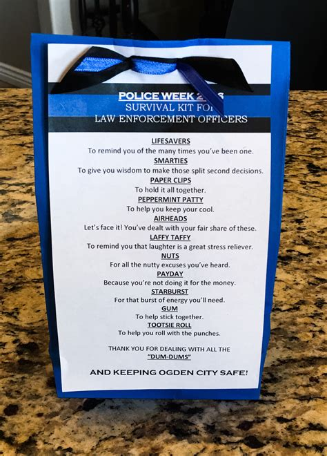 Officer Appreciation Day by Officer Survival Kit Week 2016 Craft