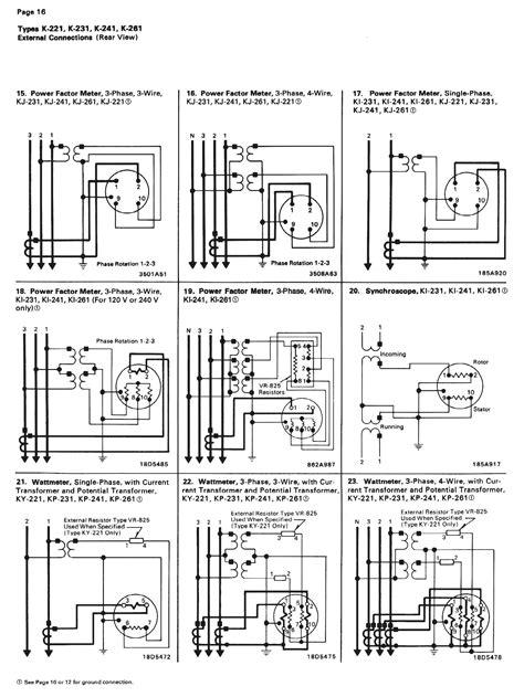 connection diagrams electrical measurement equipment
