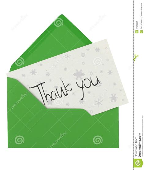 thank you letter envelope sle envelope and thank you note stock image image 17910231