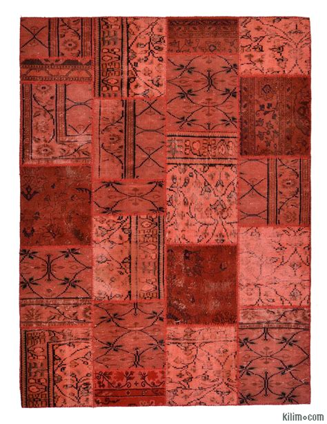 Turkish Patchwork Rugs - overdyed patchwork rugs kilim rugs overdyed vintage