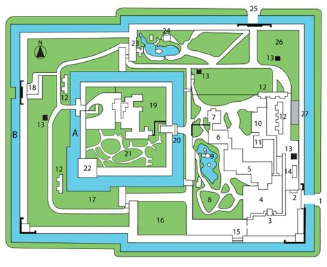 japanese castle floor plan file nijo castle plan svg wikimedia commons