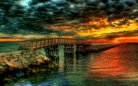 download landscapes bridges wallpaper 2560x1600 water clouds landscapes bridges beaches wallpaper