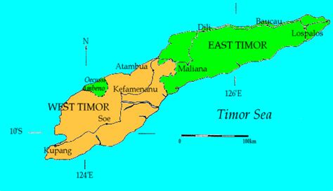 kupang indonesia map