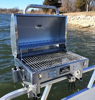 grill on a pontoon boat new smoke hollow grill for closed fencing on pontoons