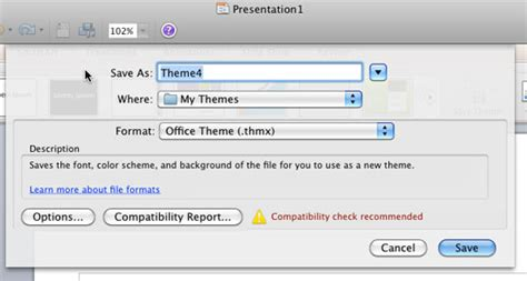 themes in excel 2011 saving themes in powerpoint word and excel 2011 for mac