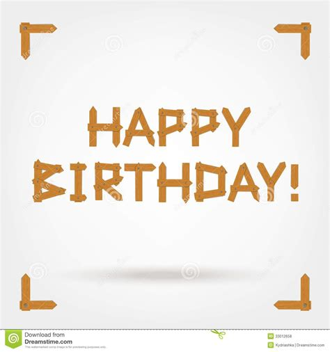 happy birthday text design free happy birthday text made from wooden boards for royalty
