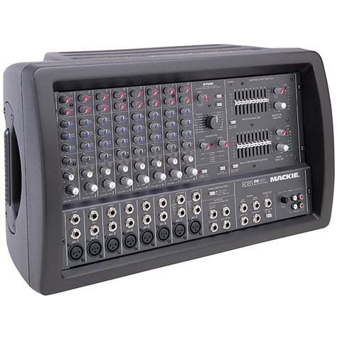 Audio Mixer Radio mackie 808s 8 channel stereo powered mixer musician s friend