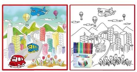 sketchbook murah fantastic colour drawing mat colouring world map 50cm