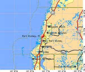 where is port richey florida on map port richey florida