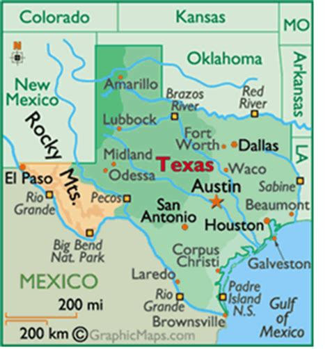 texas regions map with cities texas map