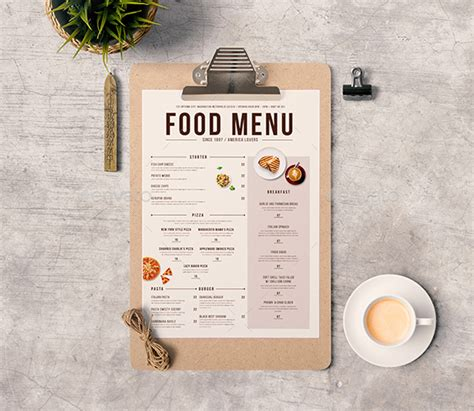 modern menu template 50 free food restaurant menu templates xdesigns