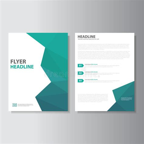 template for a4 book cover vector leaflet brochure flyer template a4 size design