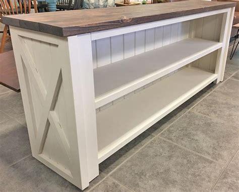 farmhouse tv console table barn door superstore custom made furniture shabby chic decor