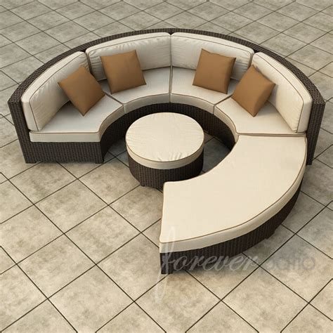 Circular Patio Furniture by 25 Awesome Modern Brown All Weather Outdoor Patio Sectionals