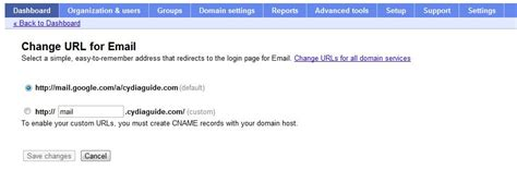create  email   domain  google apps