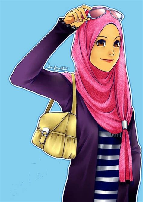wallpaper girl muslimah hijab muhajabbah muslimah anime manga cartoon islam