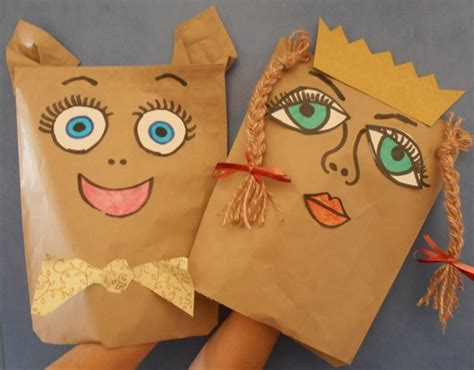How To Make A Paper Bag Puppet Of A Person - paper craft for the school holidays everywhere