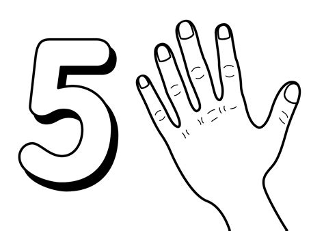 Number 5 Coloring Pages For Toddlers by Free Printable Number Coloring Pages For