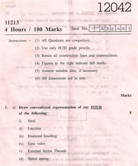 maharashtra state board  technical education general msbte question paper  diploma