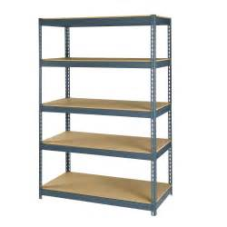 storage shelves metal maxi rack 72 quot steel and particleboard 5 shelf storage rack