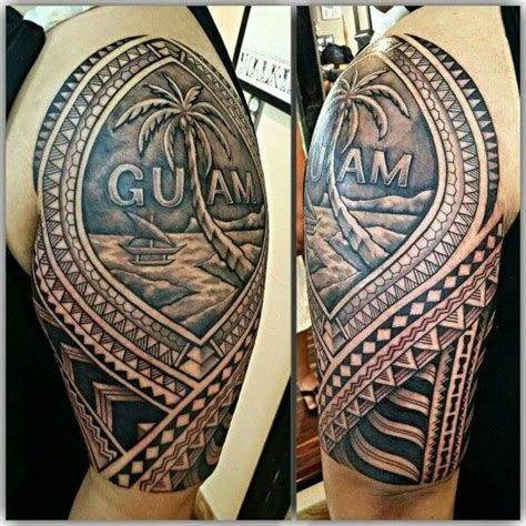 guam tattoos polynesian tribal guam seal ink d