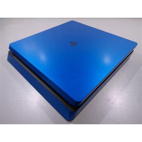 ps4 slim blue light ps4 slim skin gloss metallic blue xq gaming