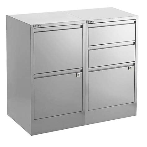 silver bisley 2 3 drawer file cabinets the container