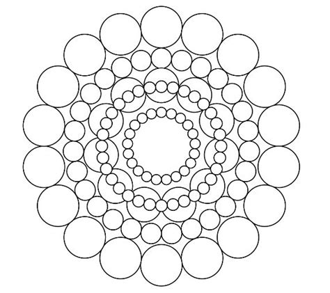 circles mandala coloring page a well coloring and