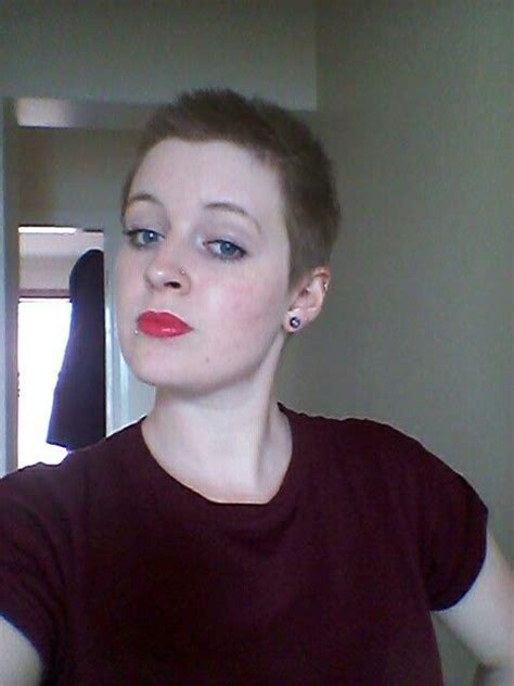 womens hair grow oyt from buzz cut commencing month 2 of growing out still v much a buzzed